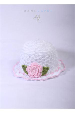 Cappello ricamato da bambina La Bottega delle Idee | 26 | C116ABIANCO/ROSA