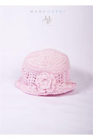 Cappello per neonata ricamato La Bottega delle Idee | 26 | C116BROSA