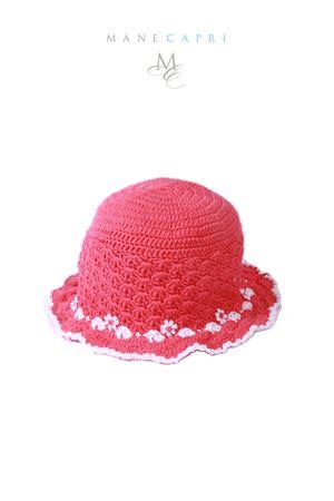 Cappello ricamato da neonata La Bottega delle Idee | 26 | C120ACORALLO/BIANCO