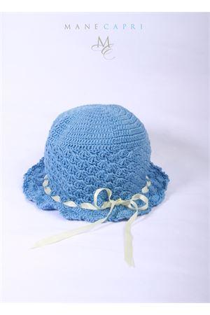 Cappello azzurro ricamato da bambina La Bottega delle Idee | 26 | C87CPERVINCA/RICAMO