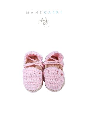 Baby embroidered shoes La Bottega delle Idee | 12 | E116ROSA