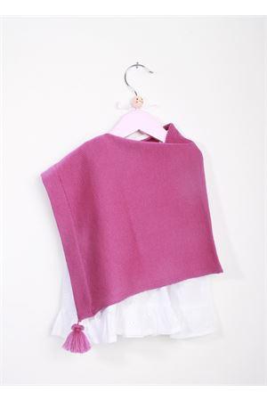 Poncho viola artigianale per bambina La Bottega delle Idee | 52 | PONCHOBGC33