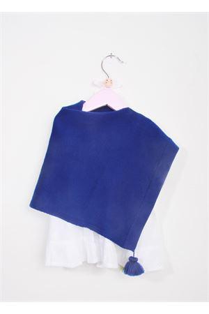 Poncho per neonata in lana merino blu La Bottega delle Idee | 52 | PONCHONBA7