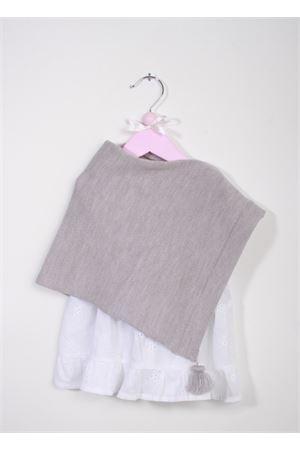 Poncho caprese in lana color grigio per neonata La Bottega delle Idee | 52 | PONCHONBB21