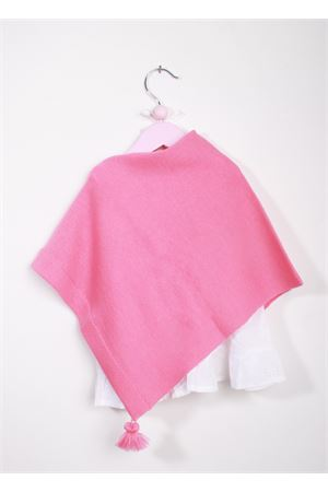 Handmade wool pink cloak for new born La Bottega delle Idee | 52 | PONCHONBS104