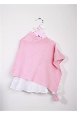 Mantella rosa in lana da neonata La Bottega delle Idee | 52 | PONCHONBS105