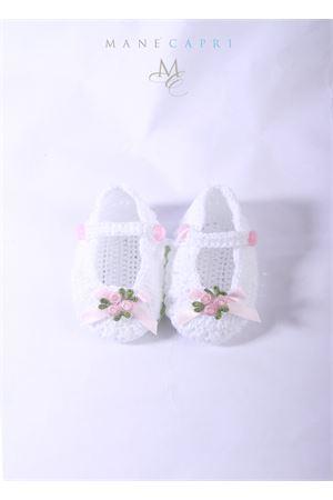 Baby embroidered shoes La Bottega delle Idee | 12 | S38BIANCA/FIOCCO ROSA
