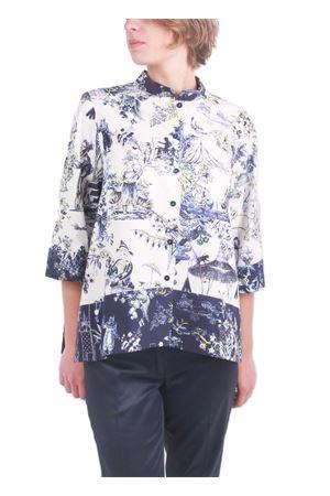 Handcrafted blouse Laboratorio Capri | 6 | COREANA TOILE DE JOUJBLU