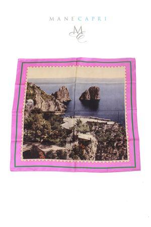 Foulard in pura seta francobollo Faraglioni di Capri Laboratorio Capri | -709280361 | FARAGLIONIFUXIA