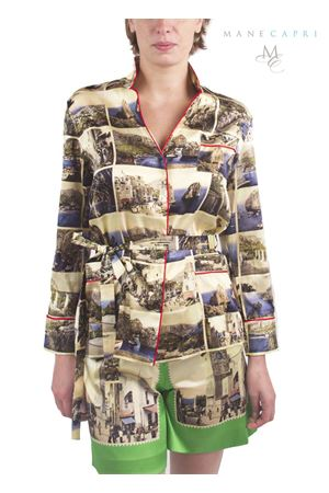 Silk jacket with old postcards of Capri Island Laboratorio Capri | 6 | GIACCA PIGIAMAROSSA