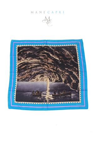 Silk foulard Blue Grotto Capri Laboratorio Capri | -709280361 | GROTTA AZZURRAAZZURRO