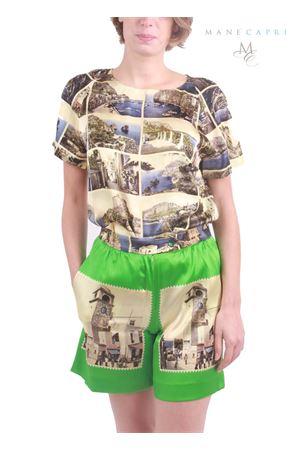 Piazzetta di Capri silk shorts Laboratorio Capri | 30 | HOTPANT FOULARDVERDE