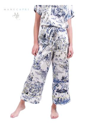 One size silk pants Laboratorio Capri | 9 | PANT LARGO TOILE DE JOUJBLU