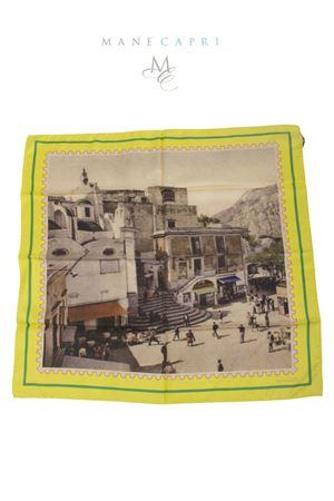 Foulard in pura seta francobollo Piazzetta di Capri Laboratorio Capri | -709280361 | PIAZZETTA CAPRIGIALLO
