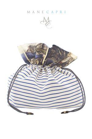 Sacchetto in cotone e seta con cartoline di Capri Laboratorio Capri | 31 | SACCHETTO CARTOLINECARTOLINE