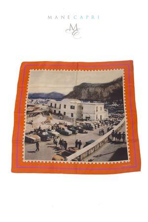 Foulard in pura seta francobollo Taxi di Capri Laboratorio Capri | -709280361 | TAXIARANCIO