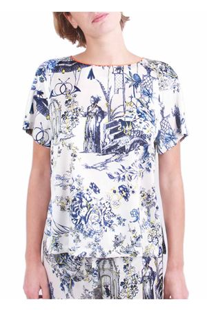 T-shirt sartoriale in seta Laboratorio Capri | 7 | TSHIRT TOILE DE JOUJBLU