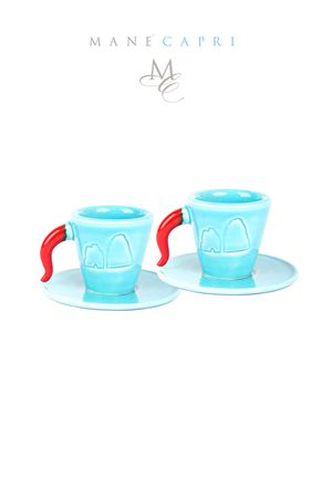 Set of 2 coffee cups with dishes Manè Capri | 20000026 | CAFFÈ CAPRI MIDITURCHESE