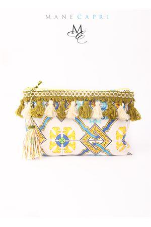 Pure linen maiolica clutch Manè Capri | 31 | JACKIEAZZURRO