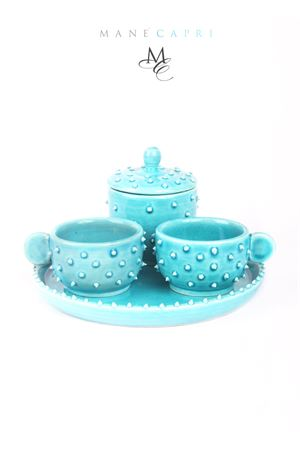 Exclusive coffee set in ceramic sea urchin shaped Manè Capri | 20000026 | SET RICCIOTURCHESE