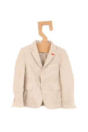 Pure linen jacket for baby boy Nupkeet | 3 | NUP65BEIGE