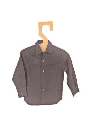 Camicia sartoriale in lino blu Opililai | 7 | OPI120BBLU