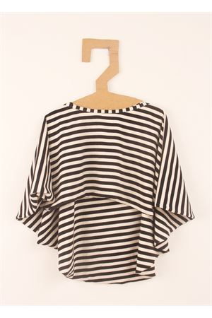 Sweater cape black and white Orimusi | 7 | ORI279BIANCONERO