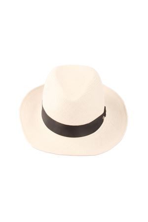 White straw hat Panama style Panizza 1879 | 26 | PANAMA HAT UNIBIANCO