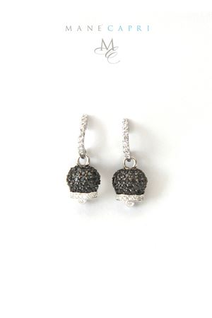 Silver earrings with Capri Bell Pierino Jewels | 48 | 3026ANERO
