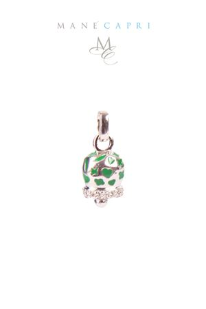 Campanella Caprese portafortuna con zirconi Pierino Jewels | 5032249 | 3055CVERDE