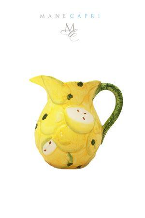 Brocca in ceramica artigianale con limoni Sea Gull Capri | 20000026 | BROCCA LIMONIBROCCA LT1.5