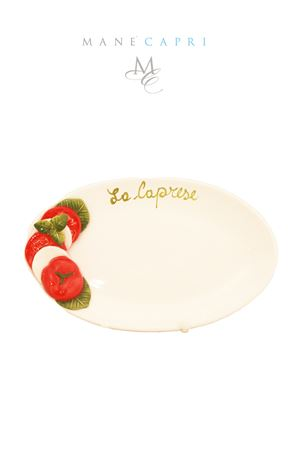 Ceramic serving plate caprese salad Sea Gull Capri | 20000026 | CAPRESE ACM 28X16