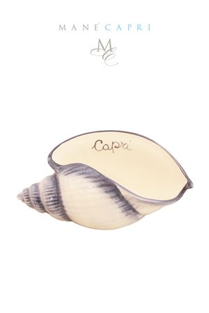 Conchiglia in ceramica Sea Gull Capri Sea Gull Capri | 20000025 | CONC CAPRI BLUBLU CM 23X12