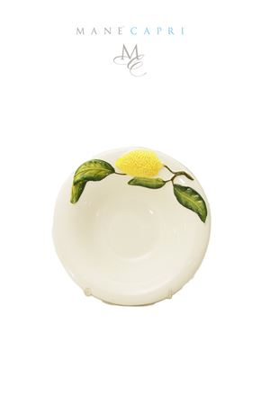 Ceramic cup decorated with lemons Sea Gull Capri | 20000026 | COPPETTA LIMONILIMONI