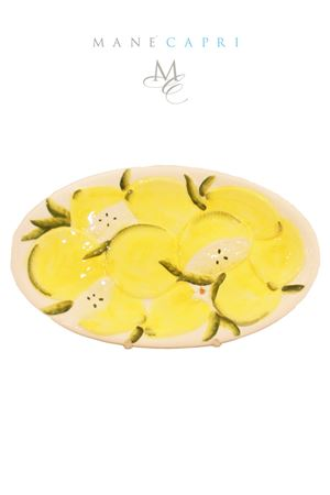 Ceramic lemon serving plate Sea Gull Capri | 20000026 | OV LIMCM 30X18