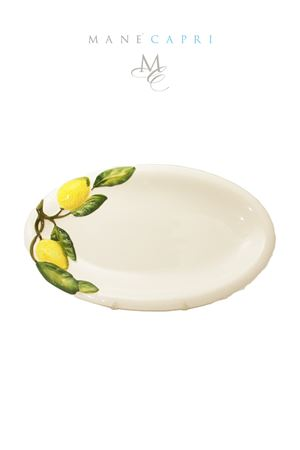 Ceramic serving plate Sea Gull Capri ceramics Sea Gull Capri | 20000026 | OVALE LIMLIMONI CM 35X20