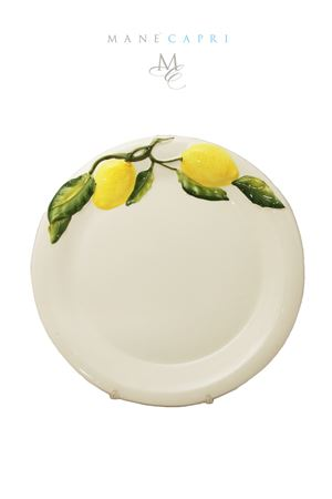 Ceramic dish decorated with Capri lemons Sea Gull Capri | 20000026 | PIATTO FR LIMONILIMONI 25 CM