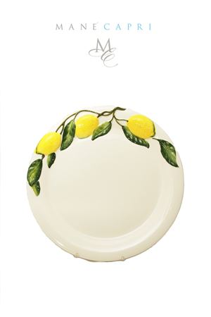 Ceramic  dinner plate with lemons Sea Gull Capri | 20000026 | PIATTO PIANO LIMLIMONI 30 CM