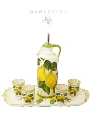 Set limoncello in ceramica Sea Gull Capri | 20000026 | SET LIMONCELLOLIMONCELLO
