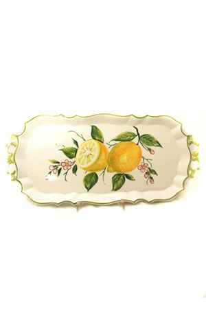 ceramic tray decorated with lemons Sea Gull Capri | 20000026 | VASSOIO CON MANICIBAROCCO CM 35X20
