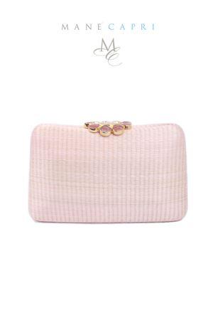 Pink elegant clutch with jewel closure Serpui | 31 | FLOWER BAGROSA