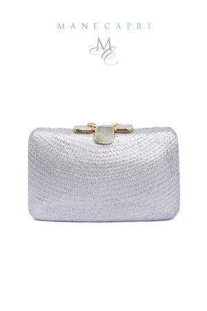 Chic silver clutch with jewel closure Serpui | 31 | FLOWER CLUTCH2ARGENTO