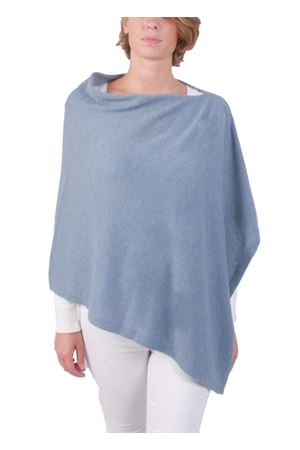 Poncho mantella in lana e cachemire artigianale Art Tricot | 52 | 700PCELESTE