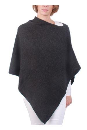 Poncho mantella in lana e cachemire artigianale Art Tricot | 52 | 700PGRIGIO