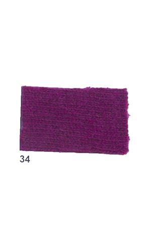Giacca con frange in cachemire e lana viola Art Tricot | 3 | D7171 FRINGE34VIOLA