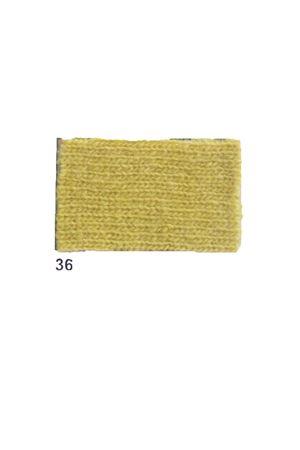 Giacca con frange in cachemire e lana giallo Art Tricot | 3 | D7171 FRINGE36GIALLO