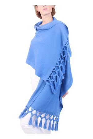 Handmade light blue wool stole Art Tricot | 61 | STOLA FRANGIAAZZURRO