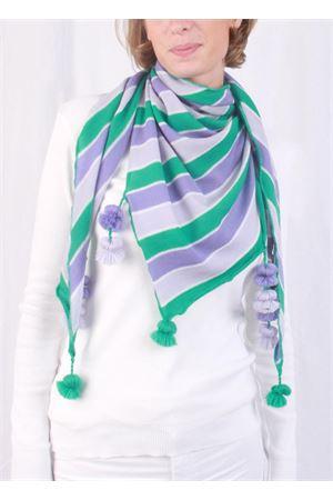 Handmade wool scarf Art Tricot | 77 | STRIPE KEFIAHVIOLA