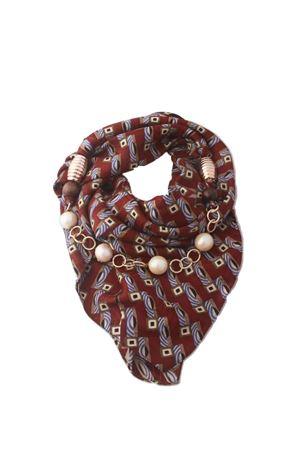 Foulard collana in pura seta con perle e applicazioni Grakko Fashion | -709280361 | GRCOLLBORBORDEAU