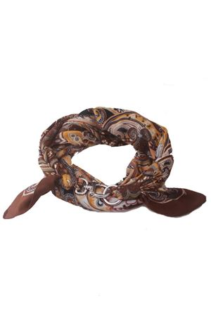 Lungo foulard con fantasia marrone Grakko Fashion | -709280361 | GRLONG BROWNMARRONE